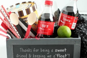 Dirty Coke Float Gift Basket