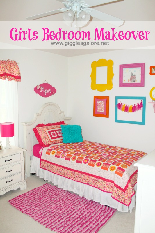 Girls Bedroom Makeover Reveal