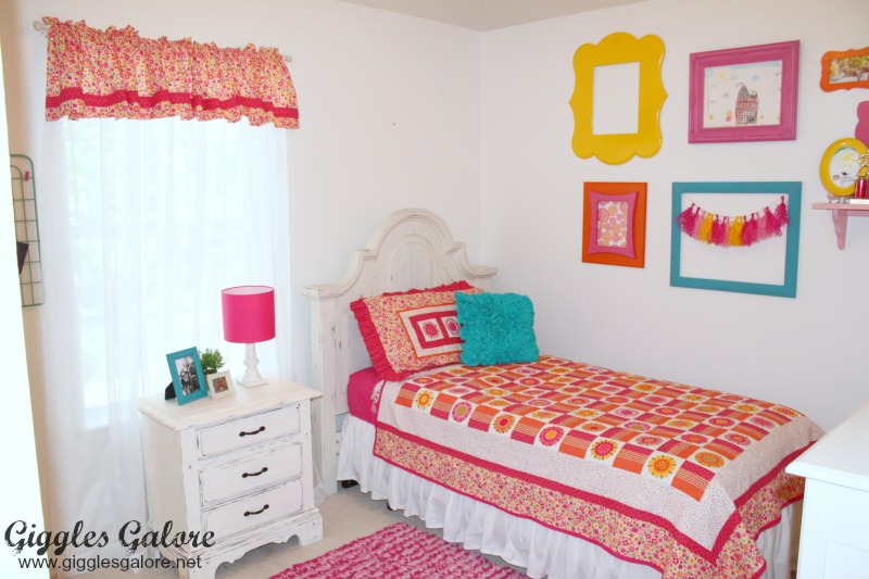 Pin this   Girls Bedroom Makeover Bright and Bold. Bright and Bold Girls Bedroom Makeover