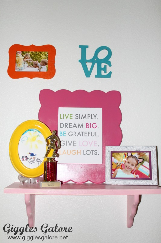Girls Bedroom Makeover_Gallery Wall Shelf