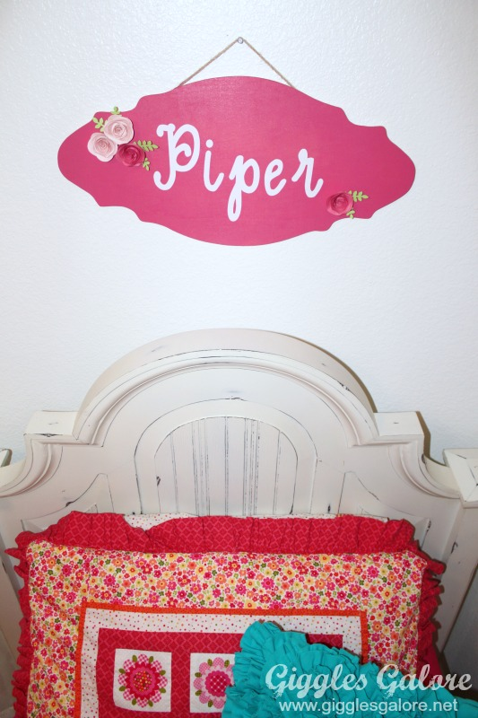 Girls Bedroom Makeover_Name Plaque