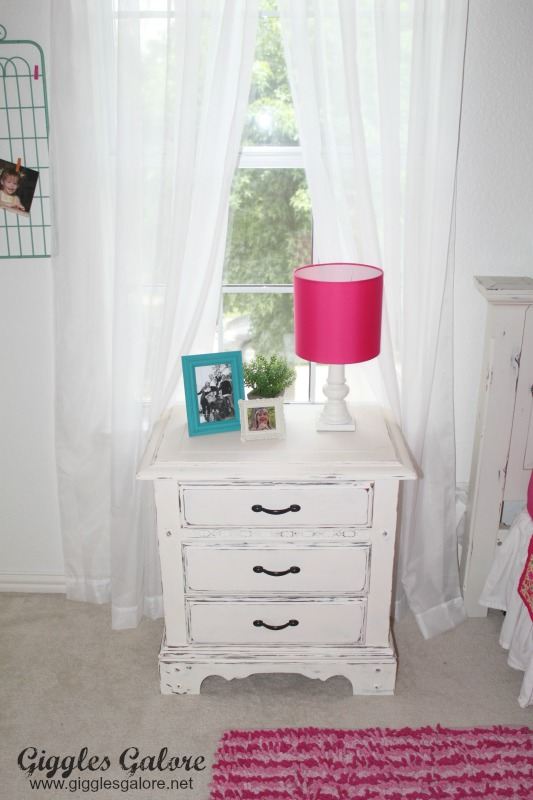 Girls Bedroom Makeover_Painted Night Table