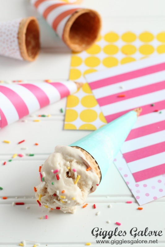 Ice Cream in DIY Wrapped Ice Cream Cone