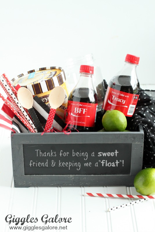 Sweet Friend Coke Float Gift Basket