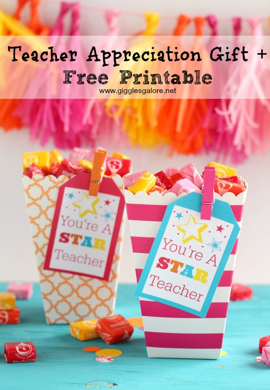 Teacher Appreciation Gift + Free Printable