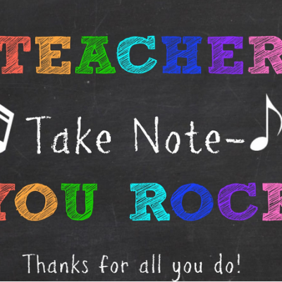 Teacher You Rock – Teacher Appreciation Gift