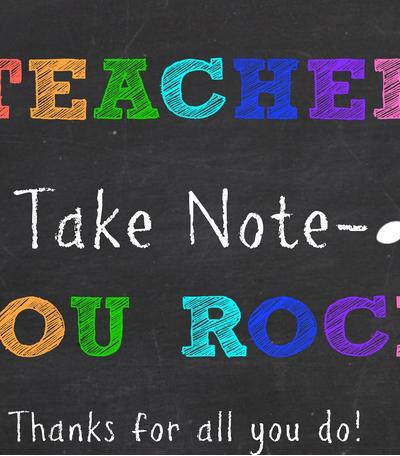Teacher take note appreciation gift
