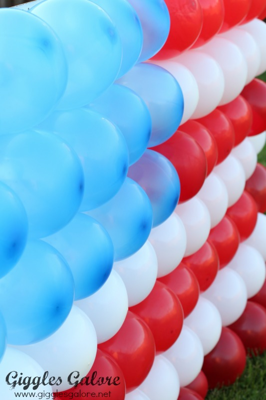 4th of july balloon flag dart game