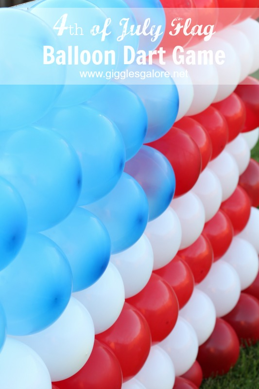 4th of July Flag Balloon Dart Game_Giggles Galore