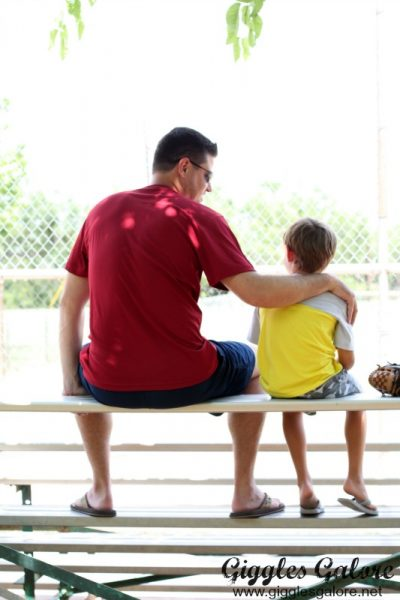 Bleacher chats with dad