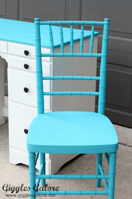 Chalky Finish Desk Chair