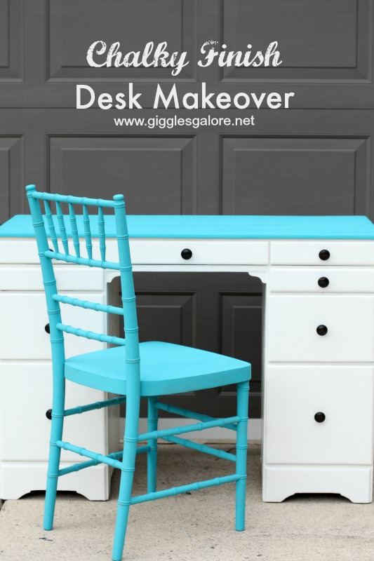 Chalky Finish Desk Makeover_Giggles Galore