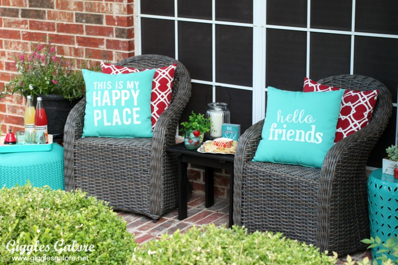 Colorful Outdoor Porch Decor