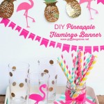 Pineapple Flamingo Banner