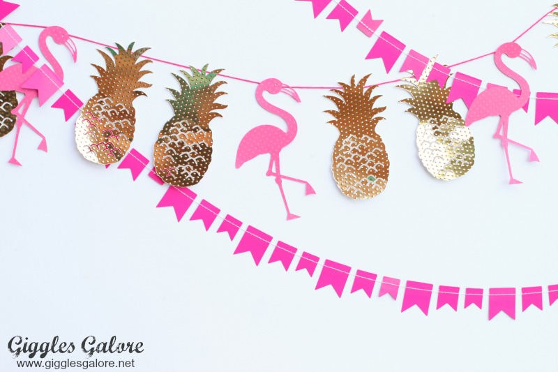 Flamingo Pineapple Banner