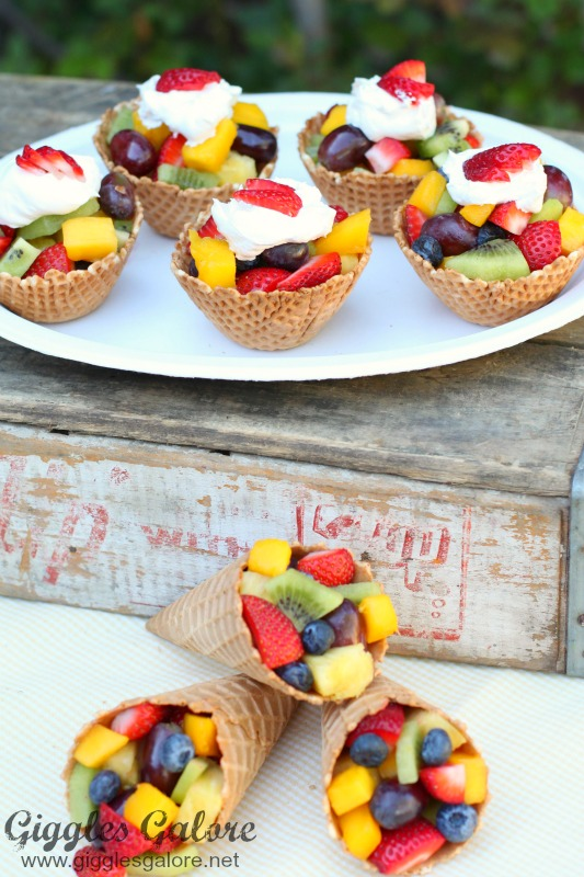 Ice Cream Cone Fruit Cups