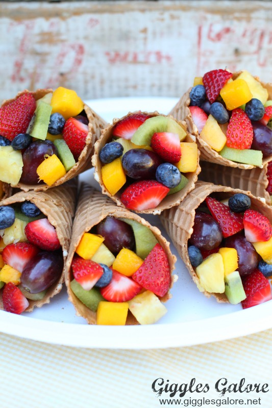 Ice Cream Cone with Fruit