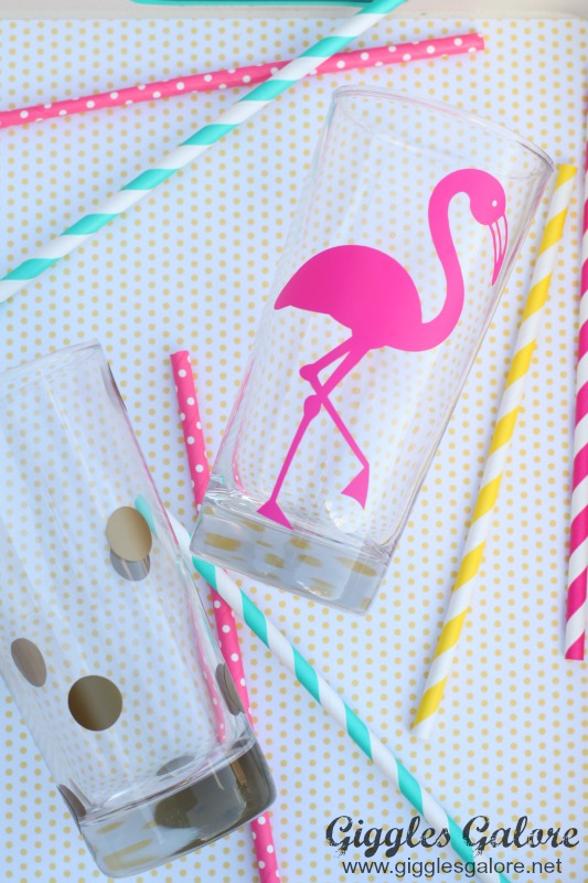 Pink Flamingo Party Glasses