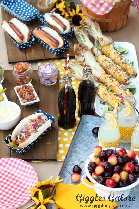 Backyard BBQ Hot Dog Bar for Easy Summer Entertaining