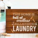 DIY Wooden Laundry Sign