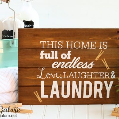 DIY Laundry Room Sign + 5 Tips to Make Laundry Day Easier