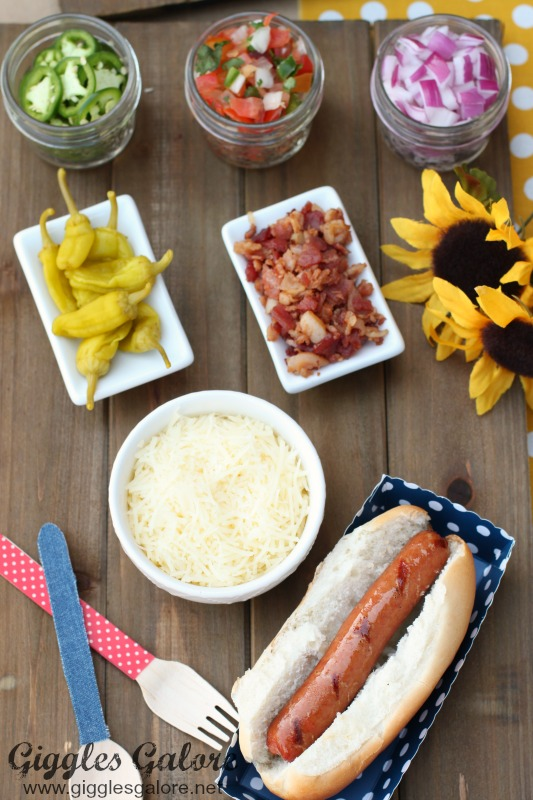 Hot Dog Bar Summer Entertaining