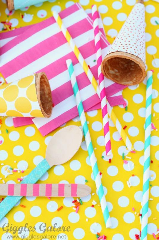 Ice Cream Gift Basket Supplies