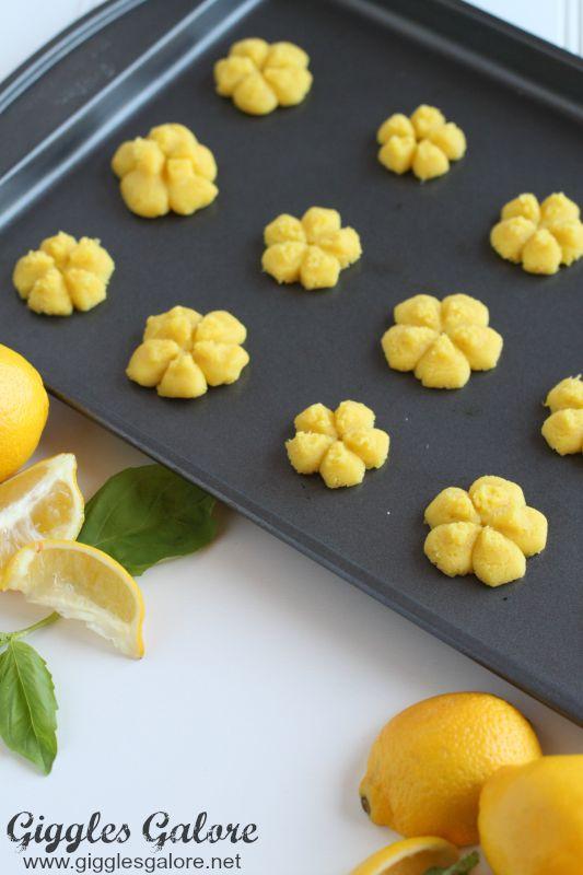 Lemon Basil Drop Cookies
