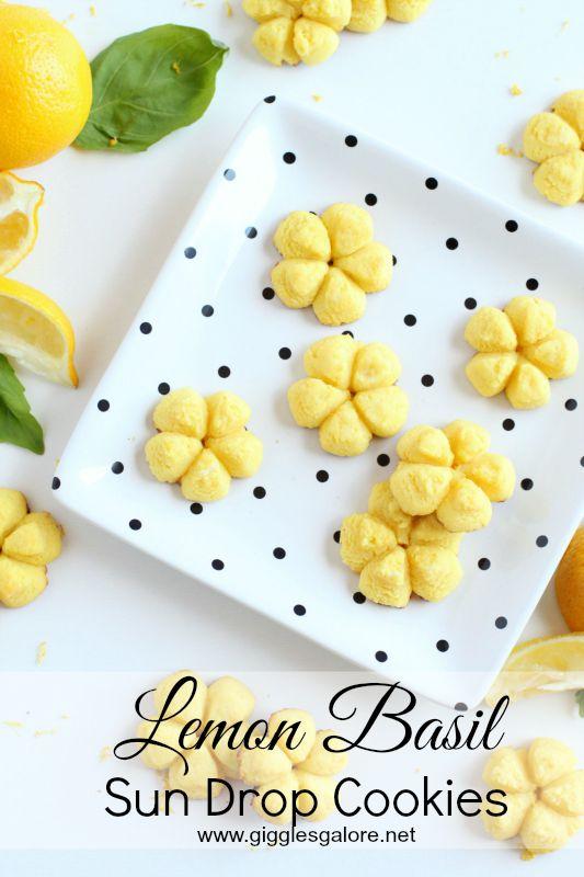 Lemon Basil Sun Drop Cookies_Giggles Galore