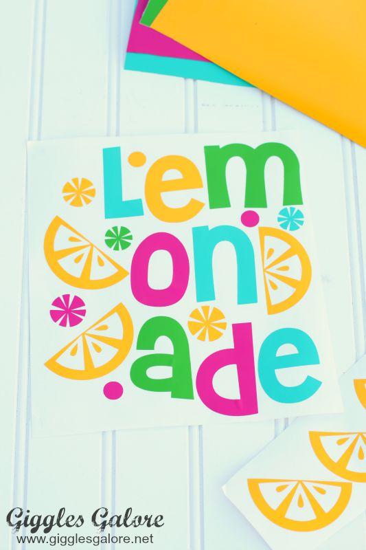 Lemonade Vinyl Sticker