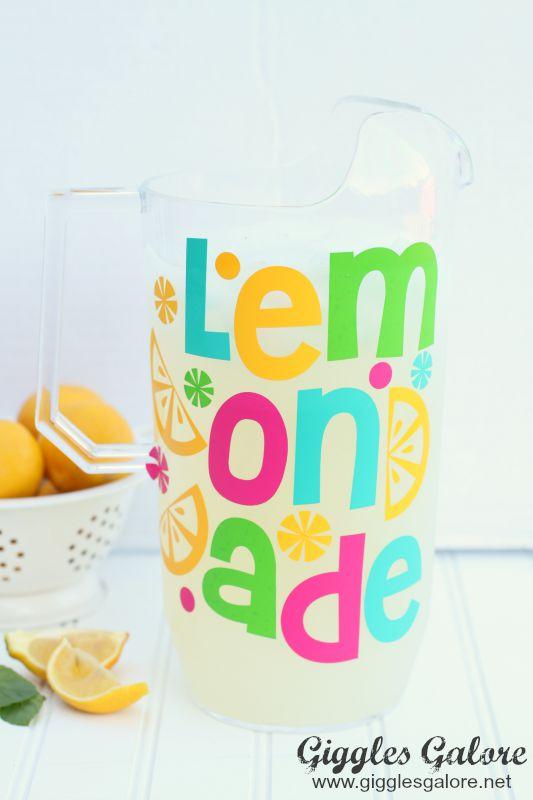 Pretty Lemonade Pitcher