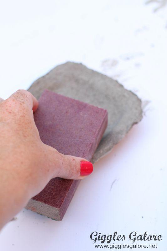 Sanding Concrete Ring Dish