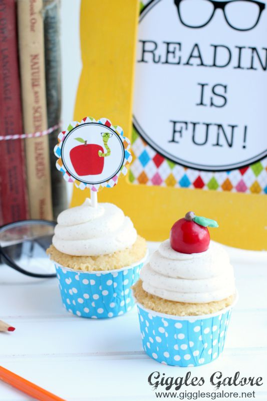 Apple Gumball Cupcake Topper