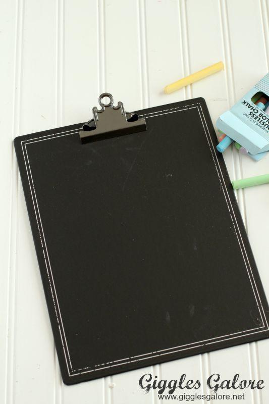 Chalkboard Clipboard