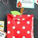 DIY Apple Treat Bag and Printable Lunch Box Notes