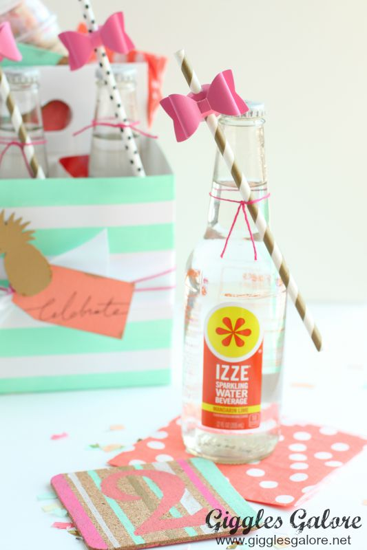 DIY Painted Coasters_Izze Drink