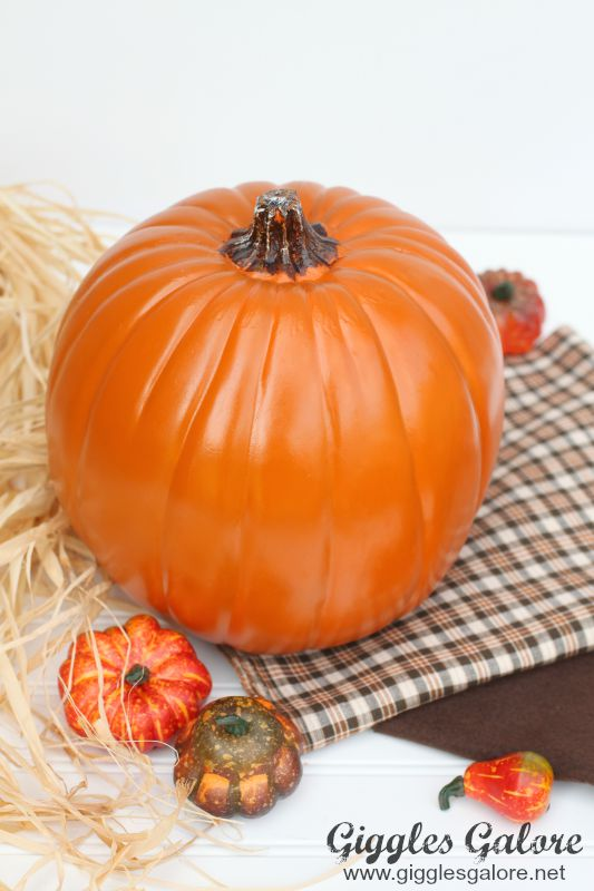 Fall Pumpkin Scarecrow Supplies