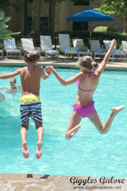 Jumping for Joy at Woodlands Resort
