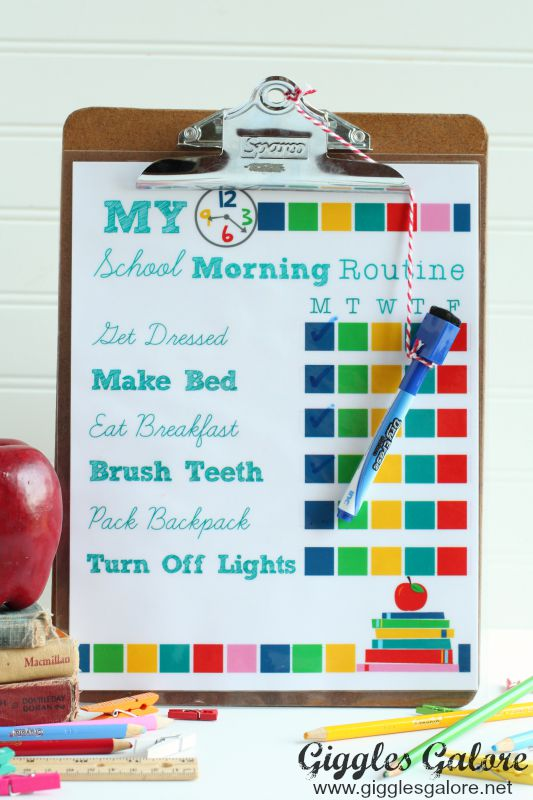 My School Morning Routine_Giggles Galore