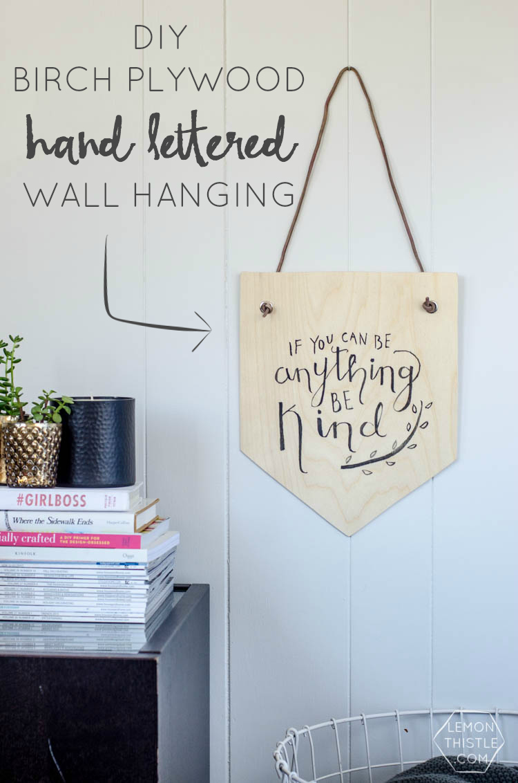 Plywood Wall Hanging