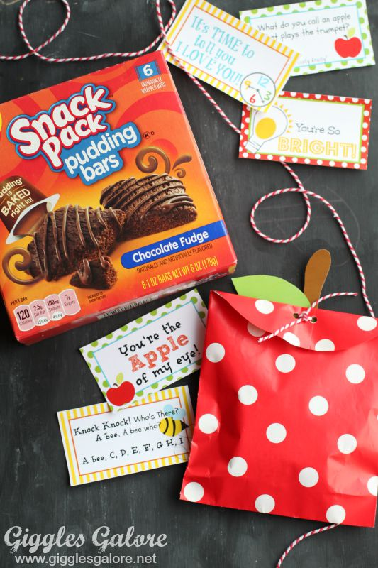 Snack Pack Pudding Bars_Apple Treat Bags and Lunch Box Notes