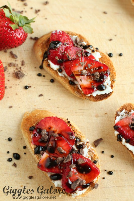 Strawberry Bruschestta