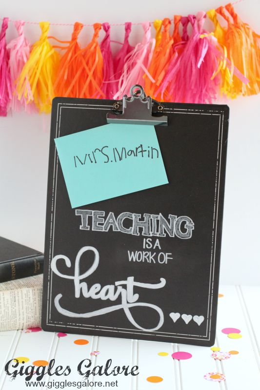 Teaching is a Work of Heart Back to School Gift