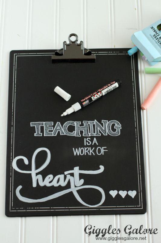 Teaching is a Work of Heart Chalkboard Pen