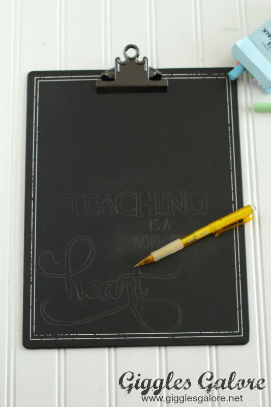 Teaching is a Work of Heart Pencil Drawing
