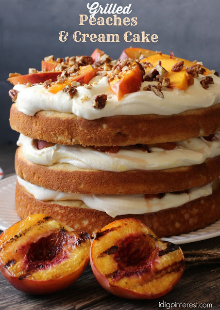 grilled peaches and cream cake5