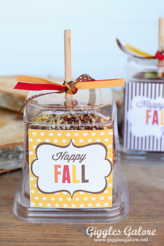 Caramel Apple Gift with Free Happy Fall Tag