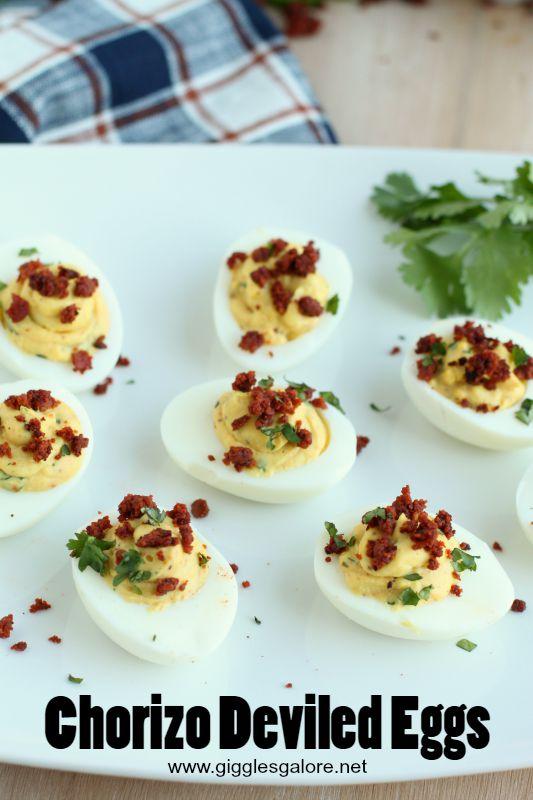 Chorizo Deviled Eggs_Giggles Galore