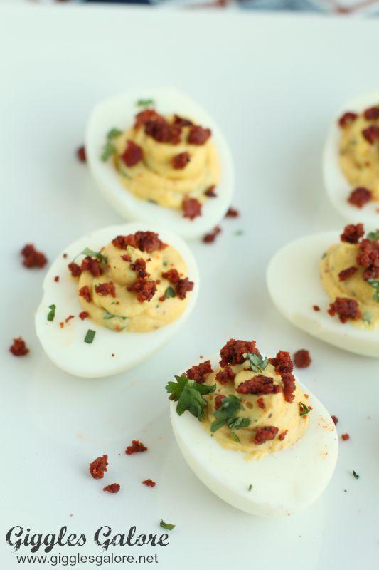 Chorizo Stuffed Deviled Eggs_Giggles Galore