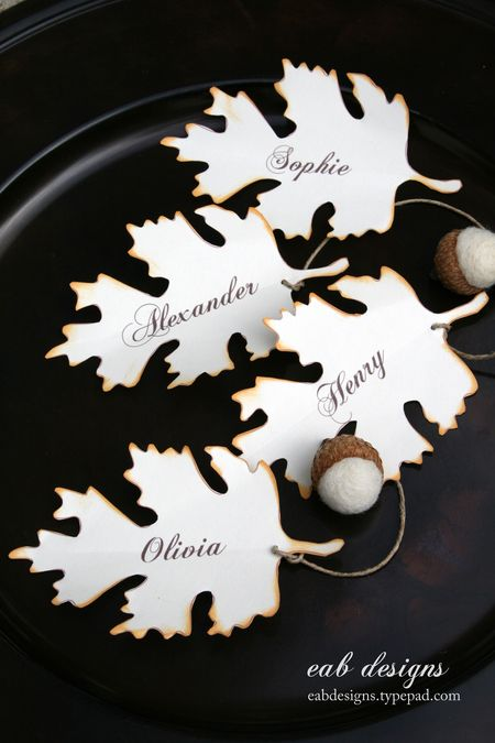Fall Leaves Placecard Printable